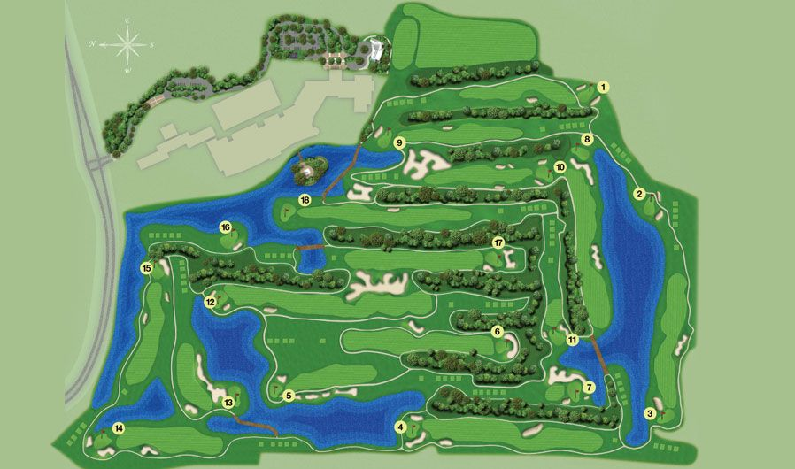 Challenging enough for you Waldorf Astoria Golf Club Course Map