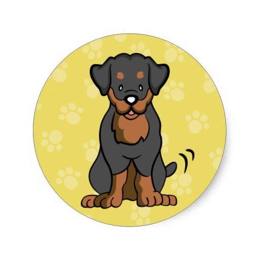 Cartoon Dog Rottweiler Sticker Zazzle Ca Cartoon Dog Cartoon