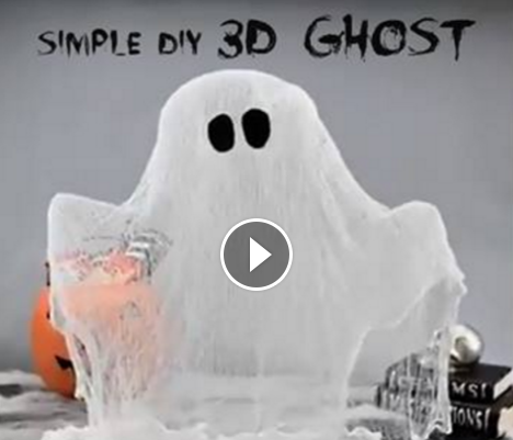 easy to make with kids 3d ghost decoration httpowly
