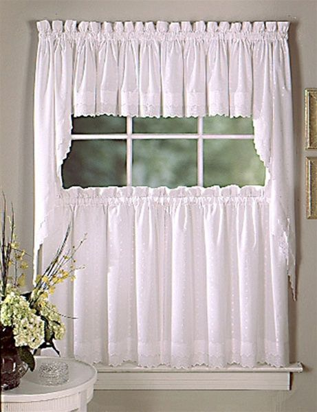 Ribbon Eyelet Tier Curtain Kitchen Curtains Curtains Valance Curtains