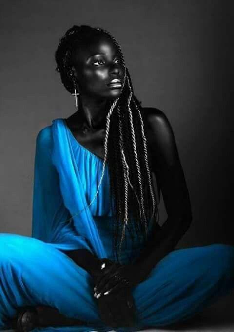 ebenholts svart damer