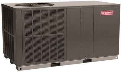 Goodman 14 Seer Packaged Heat Pump R 410a 3 5 Ton Heat Pump The Unit Heating Cooling