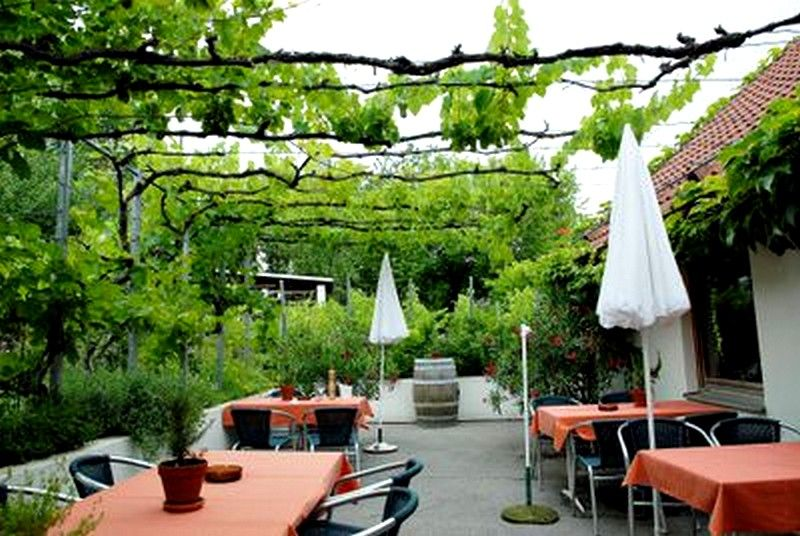 terrasse avec vigne sur fils michele garden pergola et outdoor decor. Black Bedroom Furniture Sets. Home Design Ideas