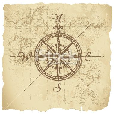 boys wall.  Vintage Compass Royalty Free Stock Vector Art Illustration