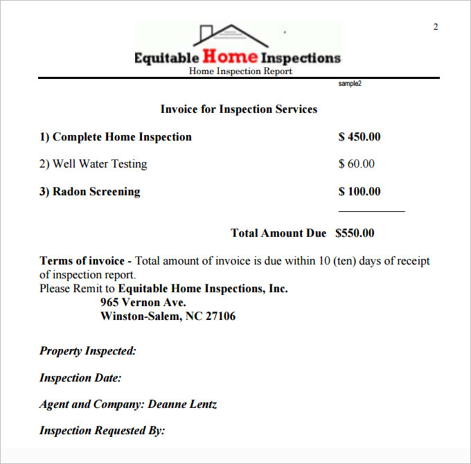 Home Inspection Report Template Free 1 Templates Example Templates Example Report Template Pamphlet Template Templates