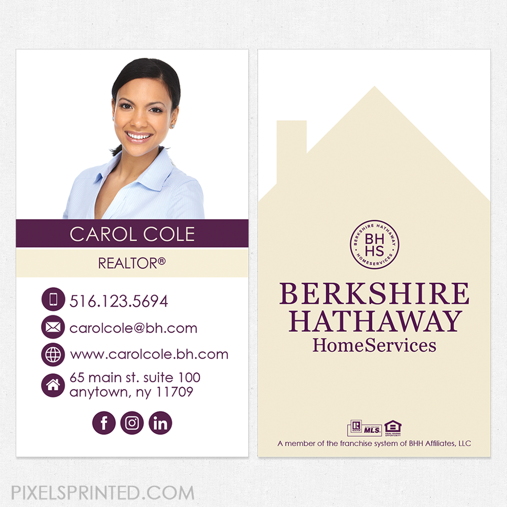 Berkshire Hathaway business cards, BH business cards, Berkshire ...