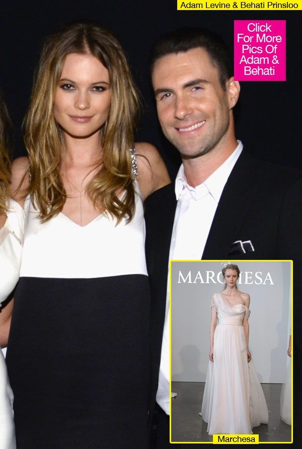 Adam Levine Wedding Pictures Pink Gowns Pink Wedding Dresses Celebrity Weddings