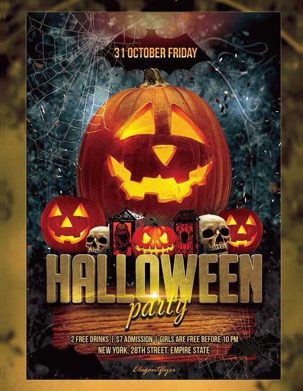 halloween party free psd flyer new halloween party flyer