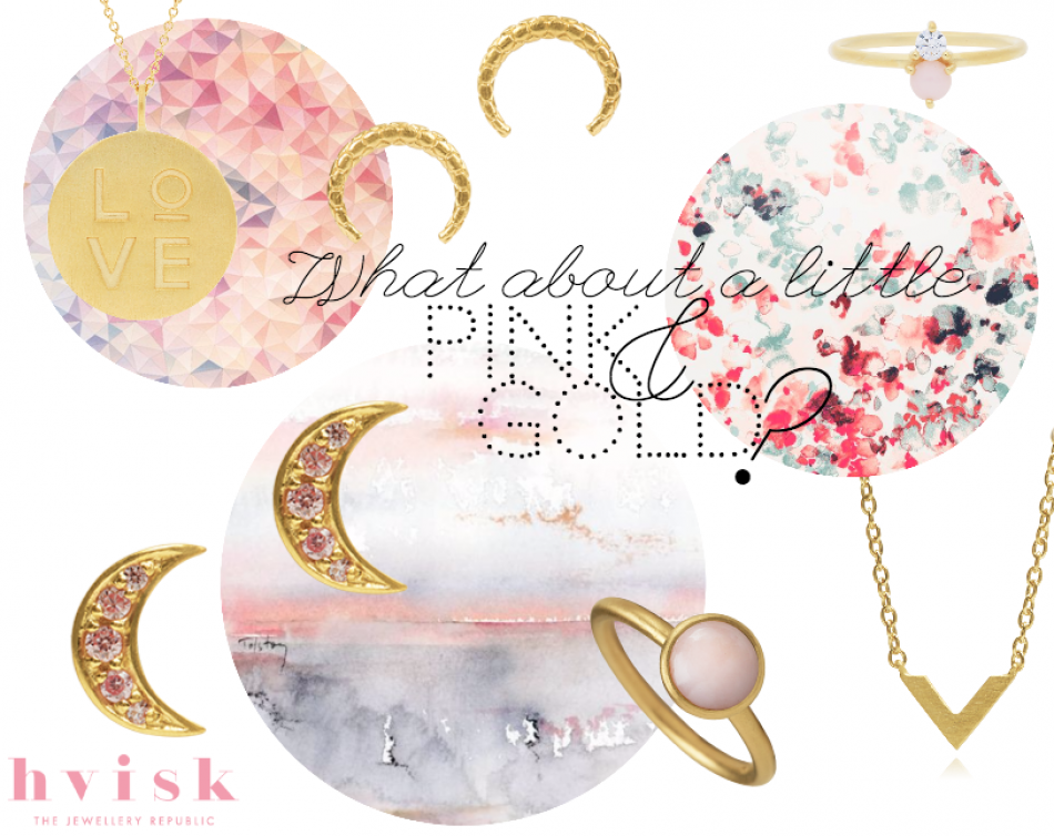 Styling by sissechri showing Love Pendant Gold, Honeycomb Tusk Ear Studs Gold, Lush Double Pink Ring Gold, Moonlight Pink Zirconia Ear Studs Gold Small , Bubble Ring Pink Medium Gold and Victory Necklace Gold #jewellery #Jewelry #bangles #amulet #dogtag #medallion #choker #charms #Pendant #Earring #EarringBackPeace #EarJacket #EarSticks #Necklace #Earcuff #Bracelet #Minimal #minimalistic #ContemporaryJewellery #zirkonia #Gemstone #JewelleryStone #JewelleryDesign #CreativeJewellery…