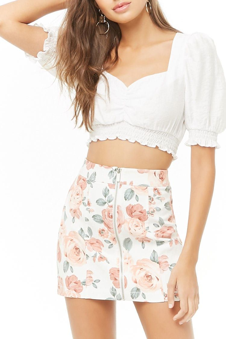 ad922e5773 Floral Print Mini Skirt in 2019 | My Closet: All the Rest | Mini ...