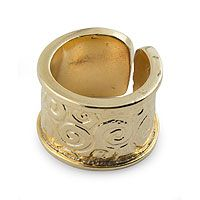 Gold plated wrap #ring designed by Cynthia Serrano of Mexico