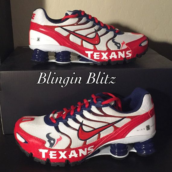 san francisco 661ba e29e9 Unisex Houston Texans Nike Turbo Shox by BlinginBlitz on Etsy