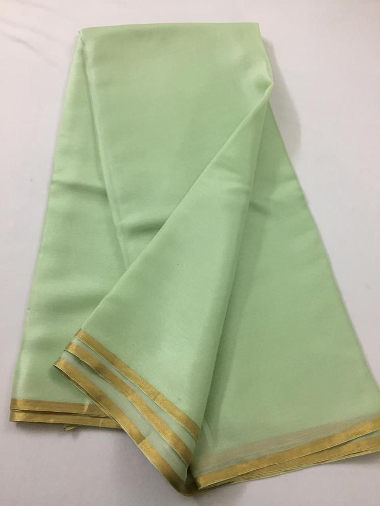 a23ec7179e Pure silk chiffon saree in 2019 | akrithi | Chiffon saree, Silk ...