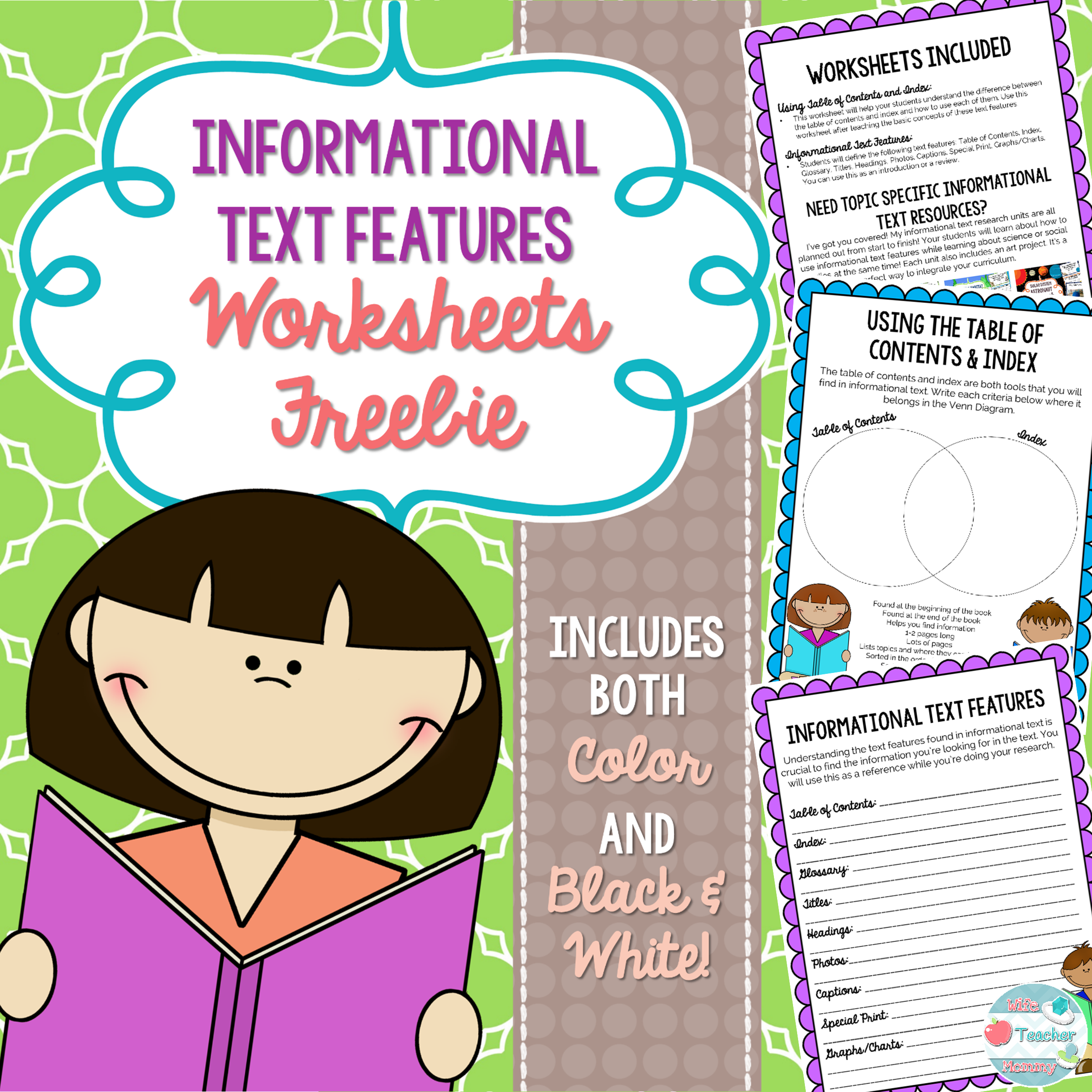 Worksheets Expository Text Features teaching informational text features this expository