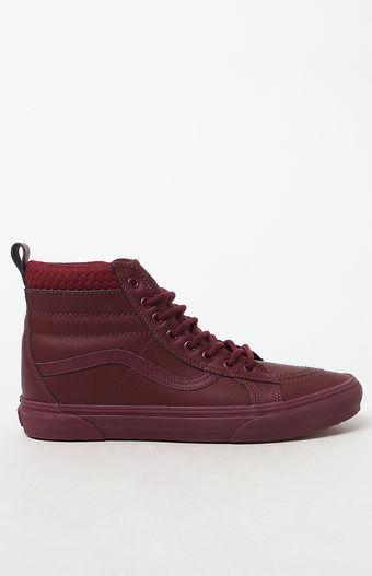 422586be7f0c6f Weatherized Sk8-Hi MTE Burgundy Shoes size 6