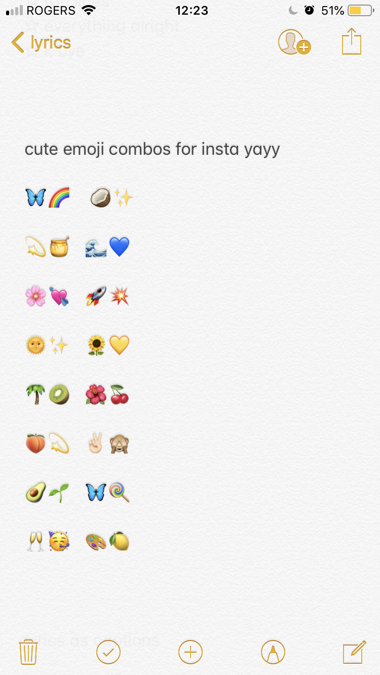 Emoji Combos Cute Instagram Captions Instagram Quotes Instagram Quotes Captions