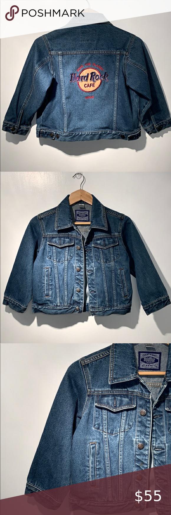 Authentic Hard Rock Cafe Kids Jean Jacket Kids Jeans Jacket Fashion Clothes Design [ 1740 x 580 Pixel ]