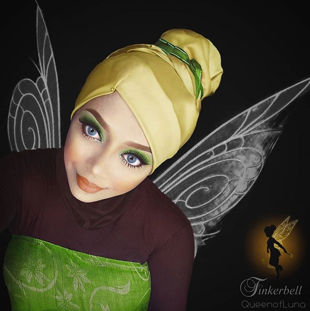 Disney Fans Will Flip For This Makeup Artists Incredible - Makeup artist uses hijab to transform herself into disney characters