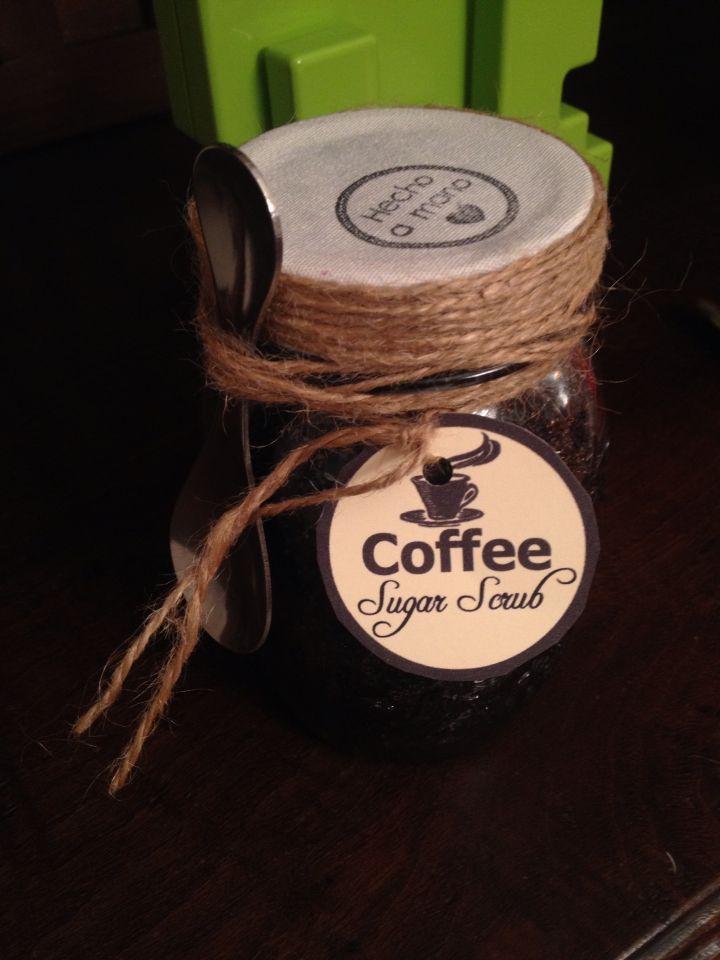 Exfoliante casero de café.