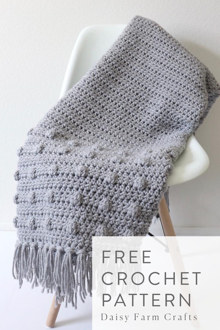 Free Crochet Pattern - Dotted Edge Throw #afghanpatterns