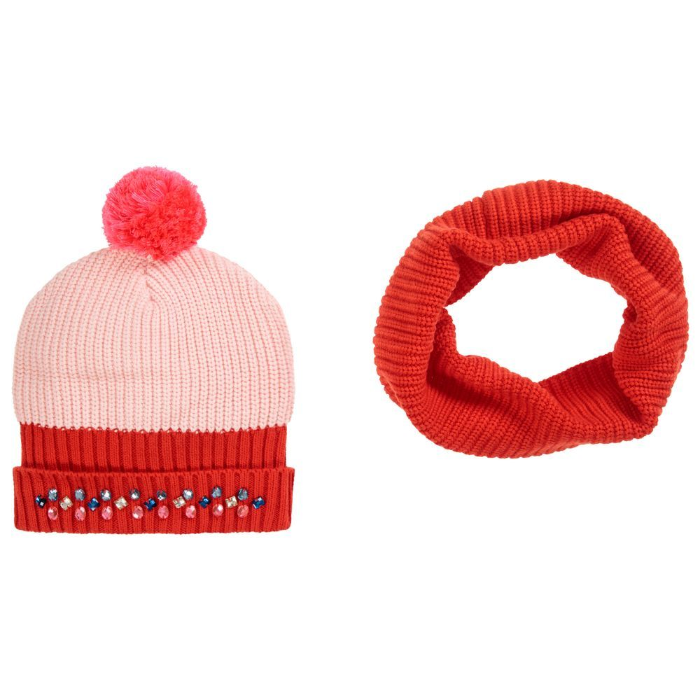 dbec20d33 Girls Knitted Hat & Snood Set for Girl by Billieblush. Discover more ...