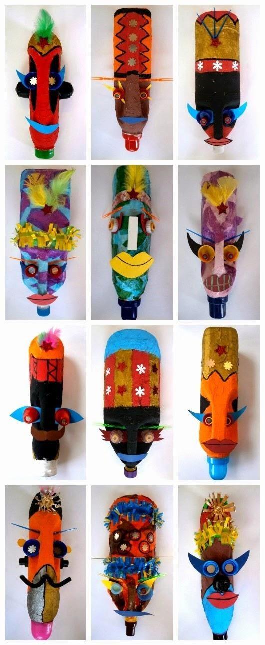 Ideas para reciclar garrafas o bidones de plástico   Art