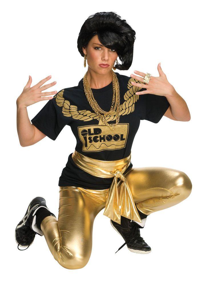 1980s Hip Hop Female Rapper Home Girl Adult Wig