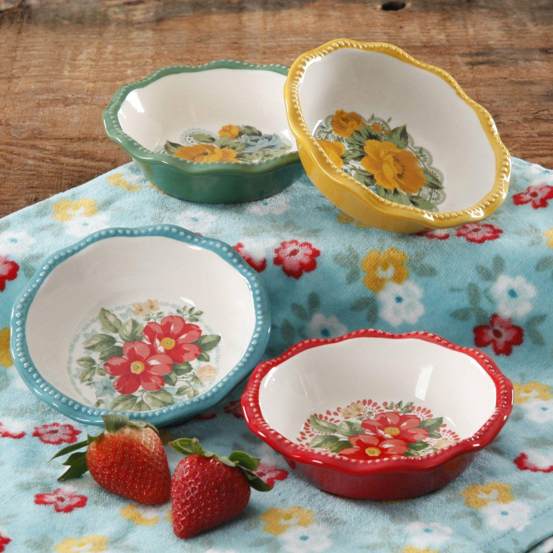 The Pioneer Woman Vintage Floral Mini Pie Plate Set, Set