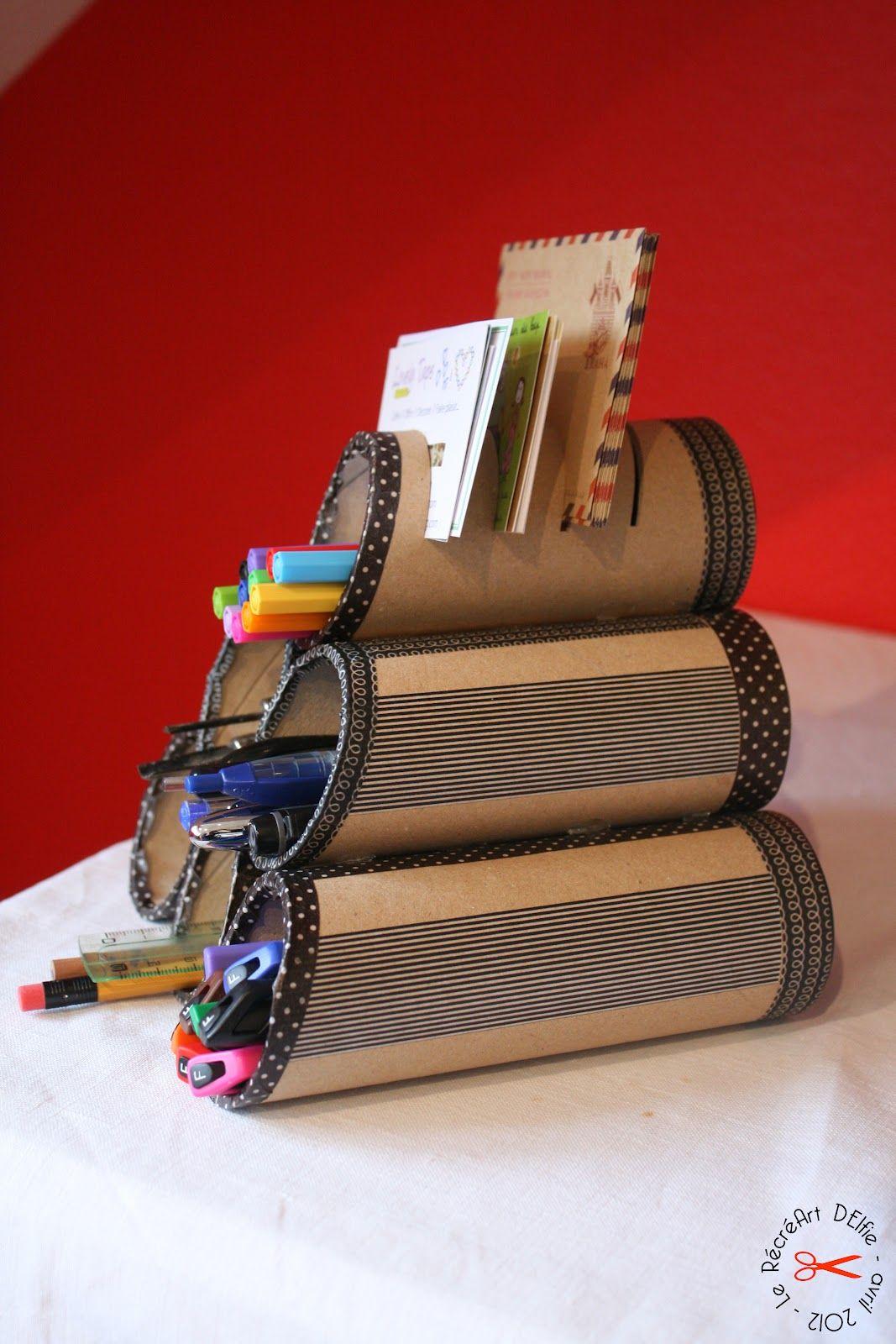 Boite Rangement Papier Wc diy : rangement pour crayons avec masking tape / toilet