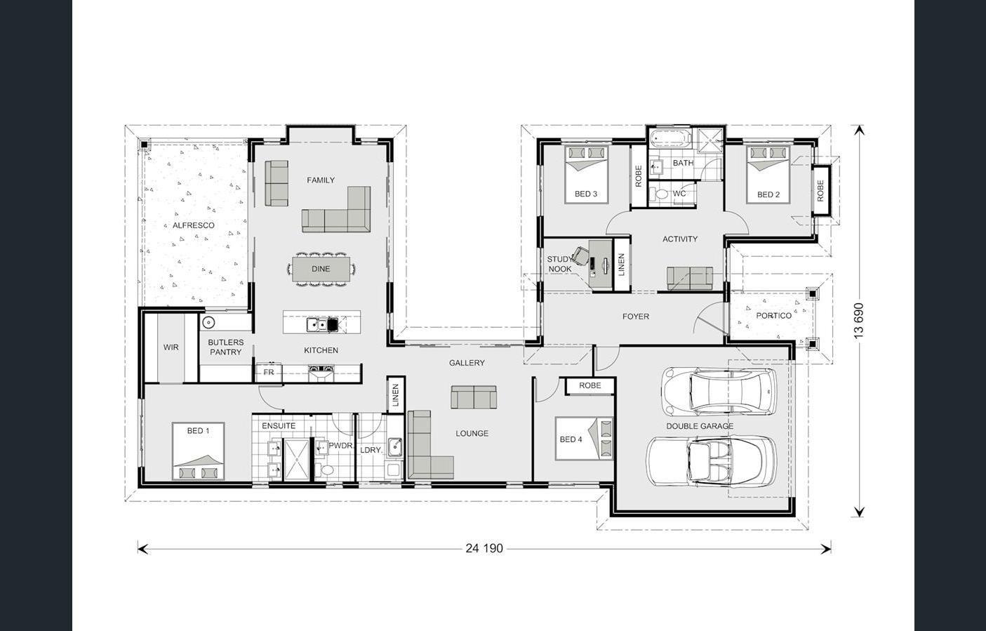 Mandalay Home Design House Plan By G J Gardner Homes Modern House Floor Plans House Design House Plans