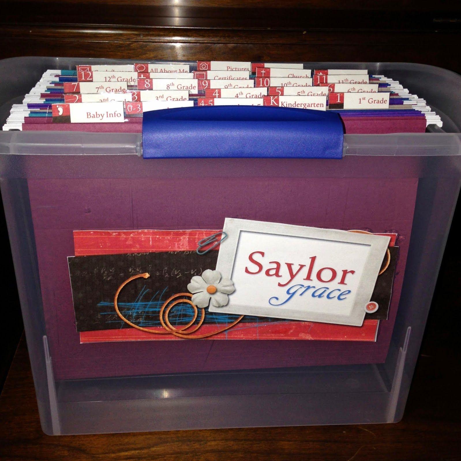 Baby Gift Idea Custom Keepsake File Storage Baby gifts