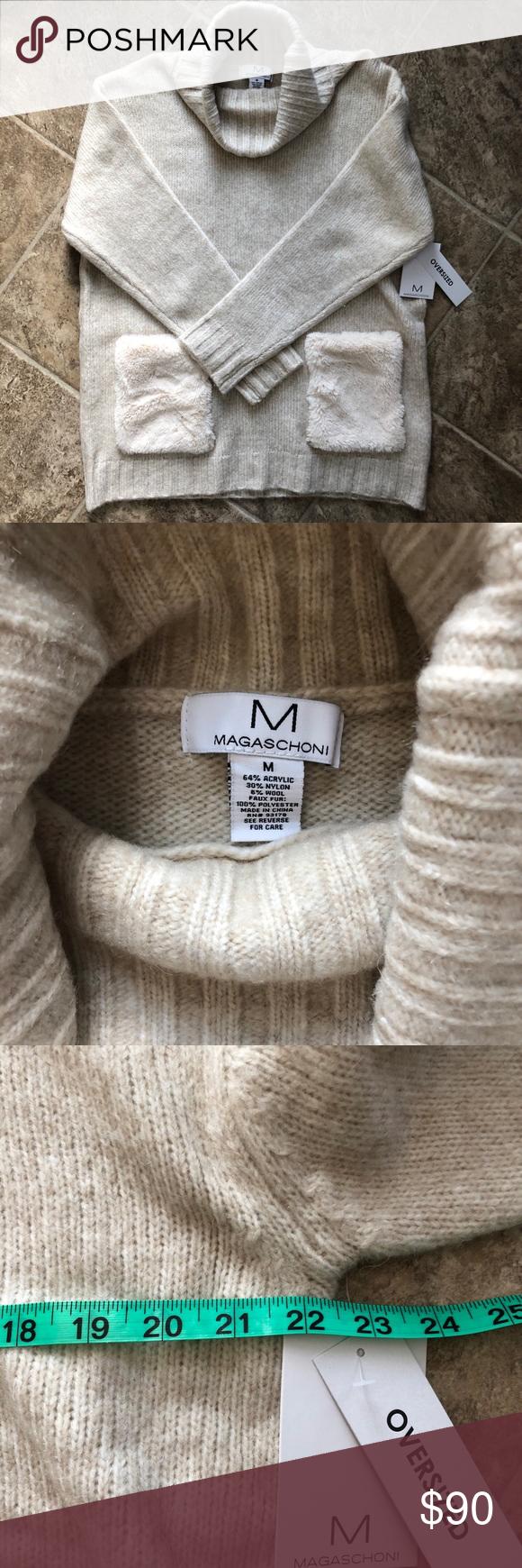 2770b318ec9 NWT Magaschoni Cream Oversized Turtleneck Sweater New with tags! Oversized.  Magaschoni Sweaters