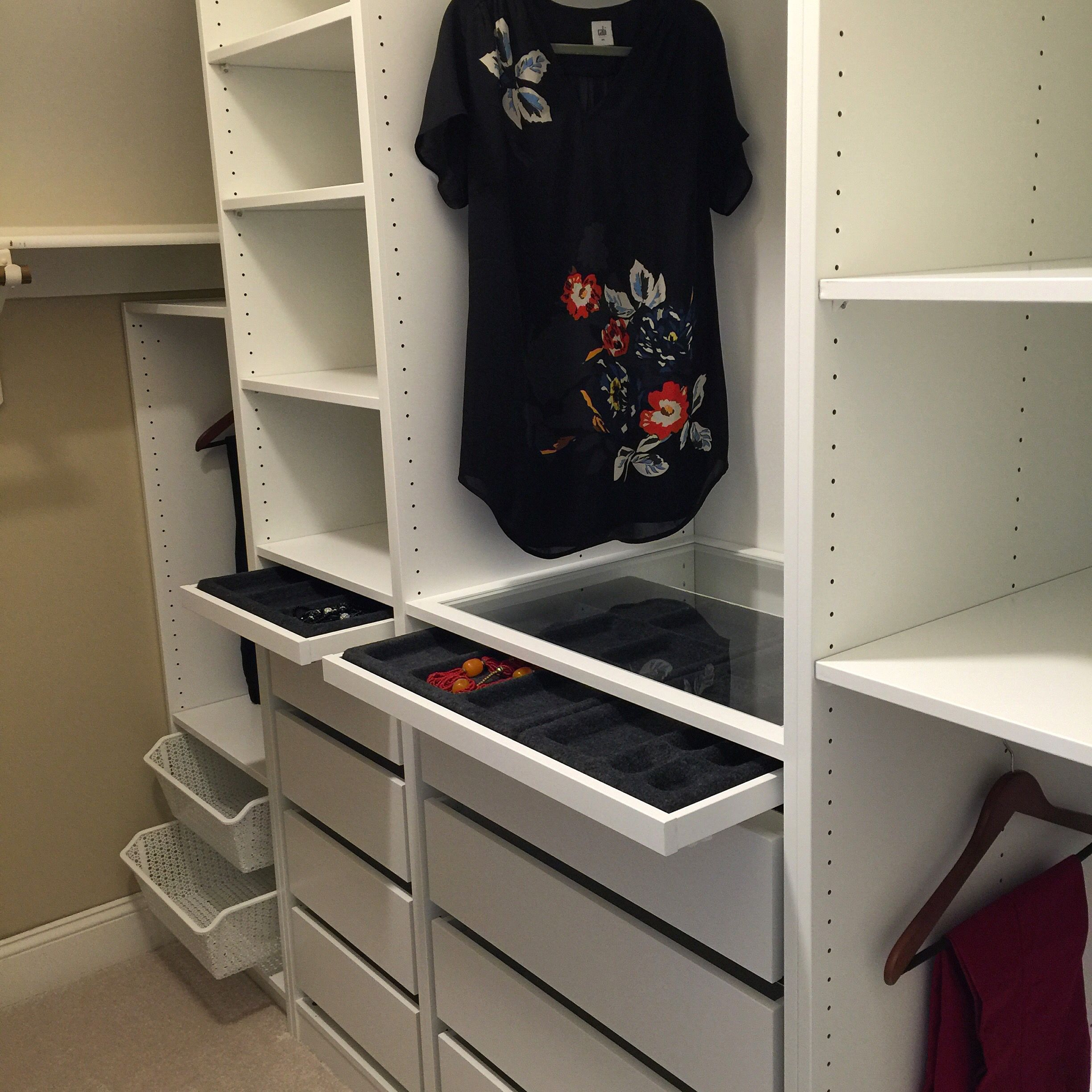 we used the ikea pax system we cut one unit under the. Black Bedroom Furniture Sets. Home Design Ideas
