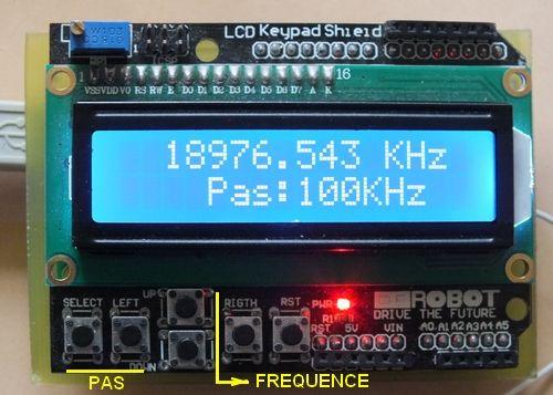 Générateur HF (1 Hz à 40 MHz) et VFO DDS Arduino + AD9850