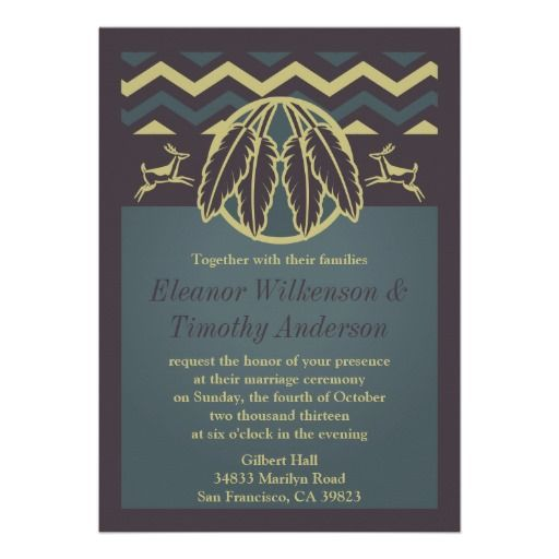 Native American Wedding Invitations: Native American Wedding Invitations