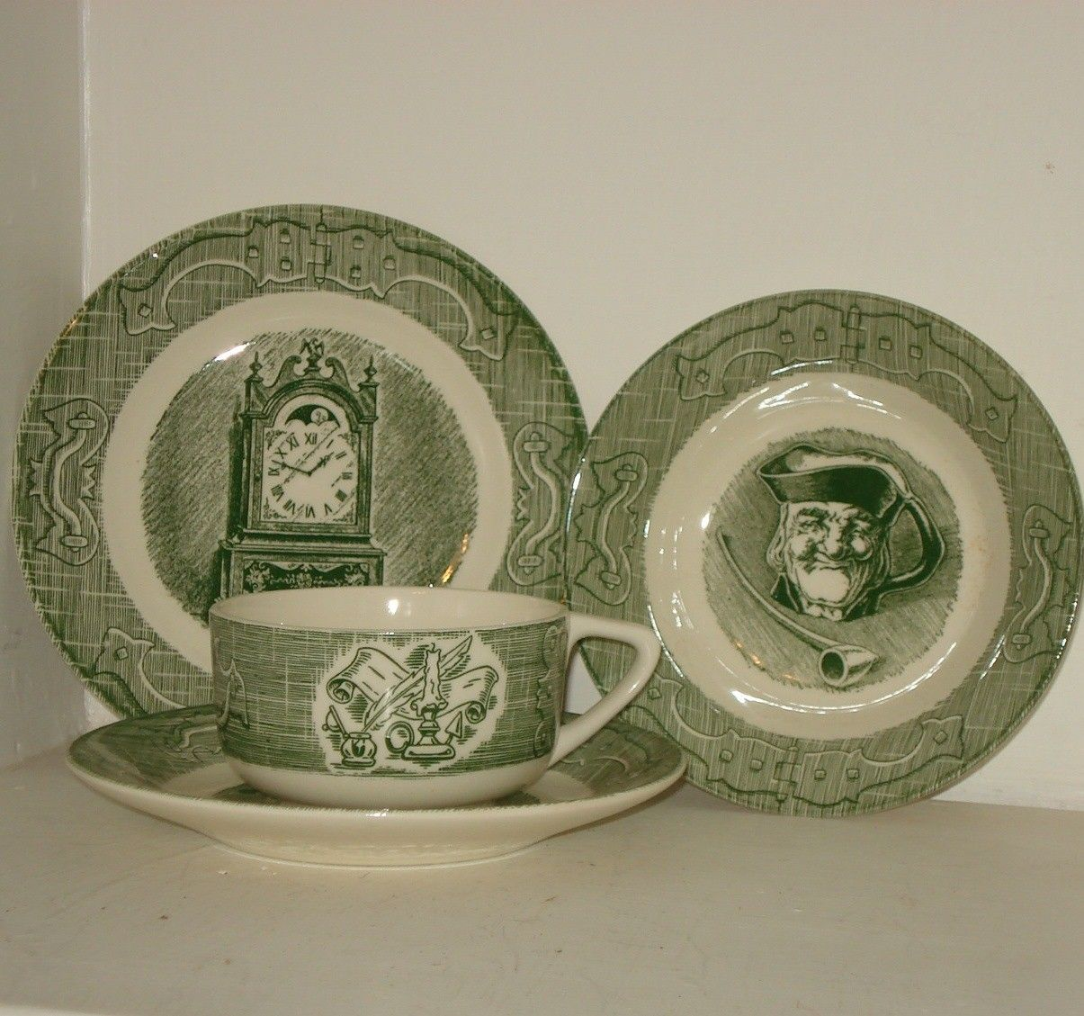 Vintage Colonial Homestead Dishes Royal China by AntiquesGaloreGal & Antique Dishes | Vintage Colonial Homestead Dishes Royal China by ...