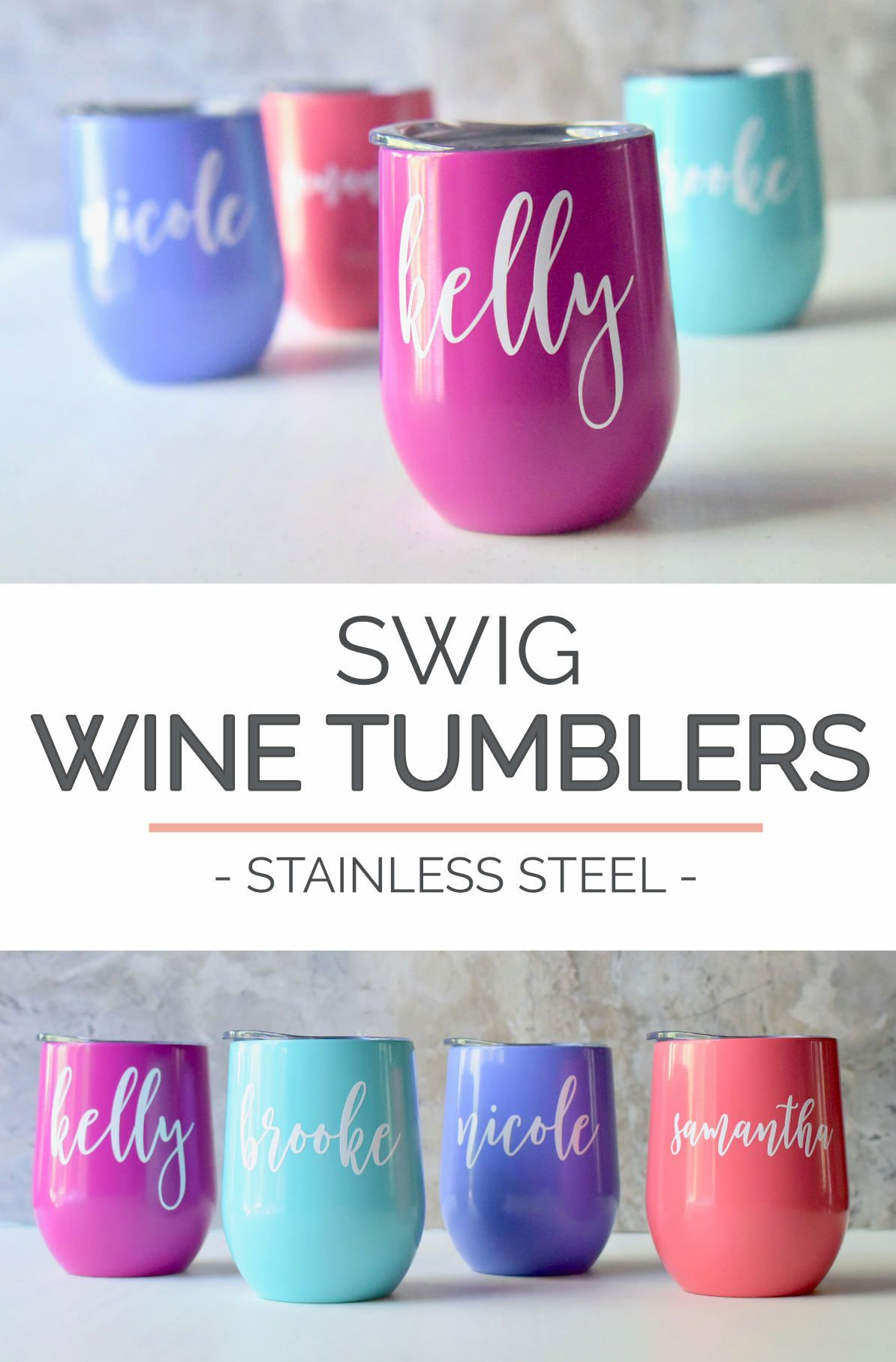 Swig Wine Tumbler Bridesmaid Gift - Bachelorette Gift -Custom ...