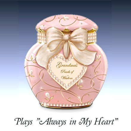 Gift Music Boxes for Granddaughters -  Grandmau0027s Pearls Of Wisdom  Heirloom Porcelain Music Box  sc 1 st  Pinterest & Gift Music Boxes for Granddaughters -