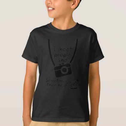 #Photographer  I Shoot People T-Shirt - #cool #kids #shirts #child #children #toddler #toddlers #kidsfashion
