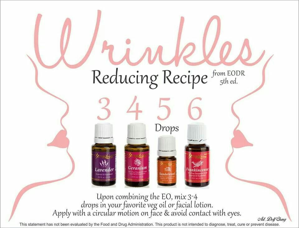 Reduce wrinkles with young living EO