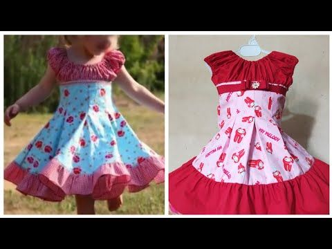 4fc2498f24a Baby frock cutting and stitching.step by step .box pleat raglan sleeves  frock tutorial. - YouTube