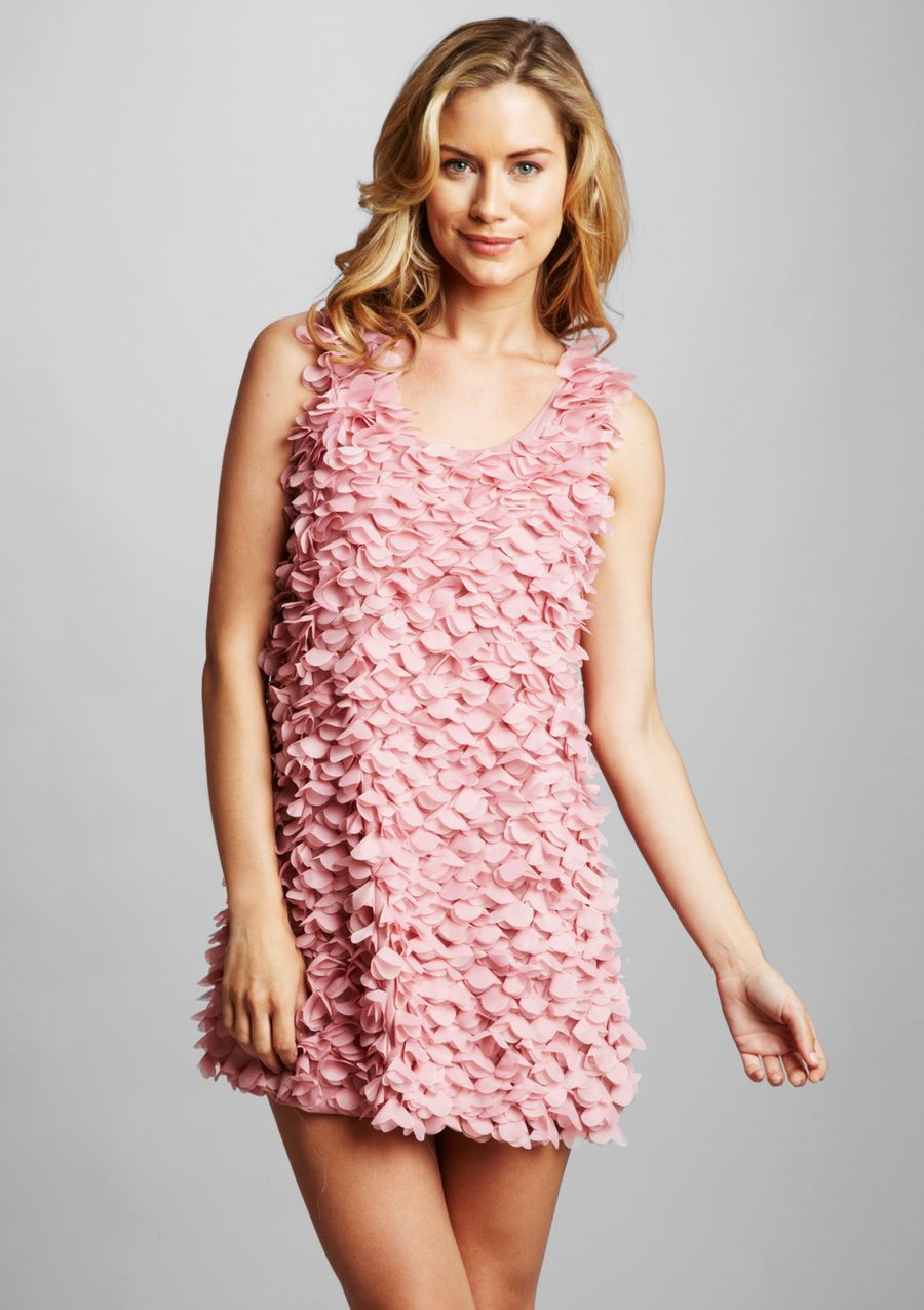 Ruffle Front Dress in \'Blush\' by Patrizia Luca | Seams & Sequins ...