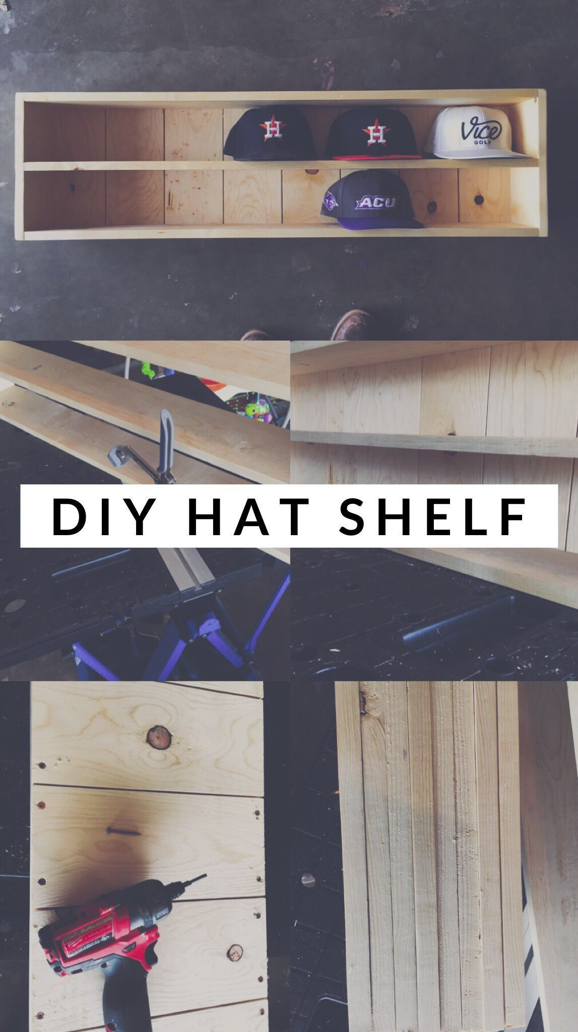 Baseball Hat Organizer – Beginner DIY Project