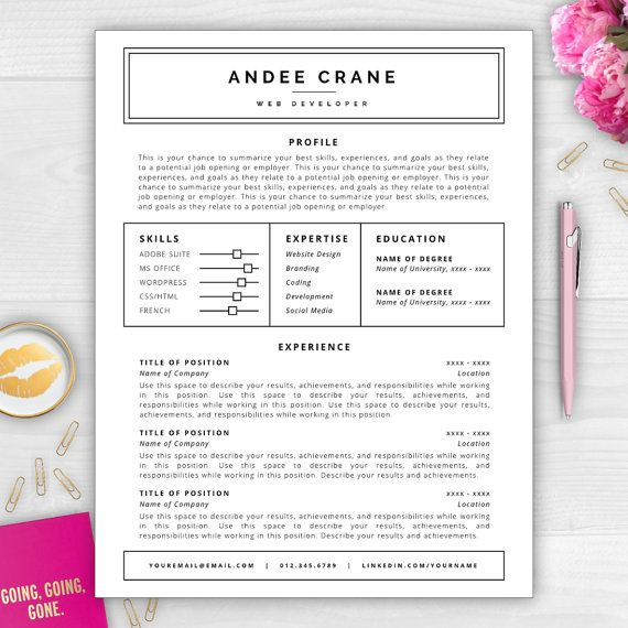 Stand out from the competition with this best-selling résumé