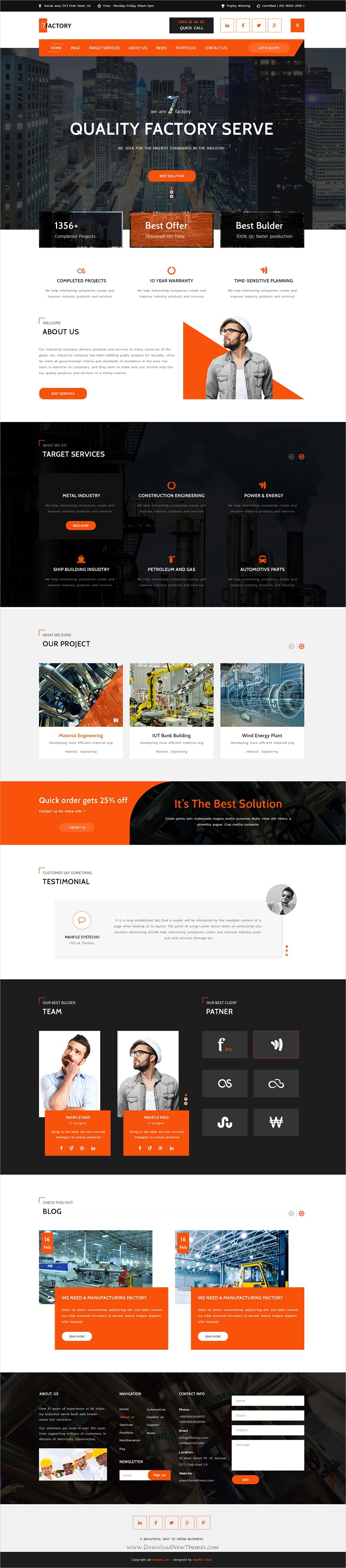 7factory Industrial Manufacturing Psd Template Web Layout Design Web Design Website Design Inspiration