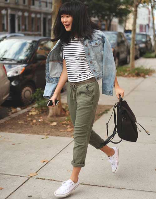 Green Jogger Pants Outfit Olive Pants Outfit Olive Green Pants Outfit Drawstring Pants Outfit