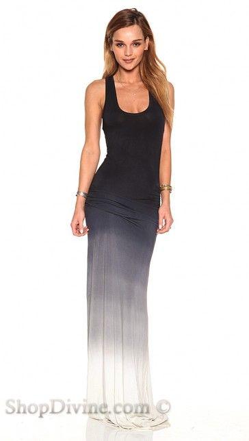 Young Fabulous Broke Black White Ombre Hampton Maxi Dress At Shop