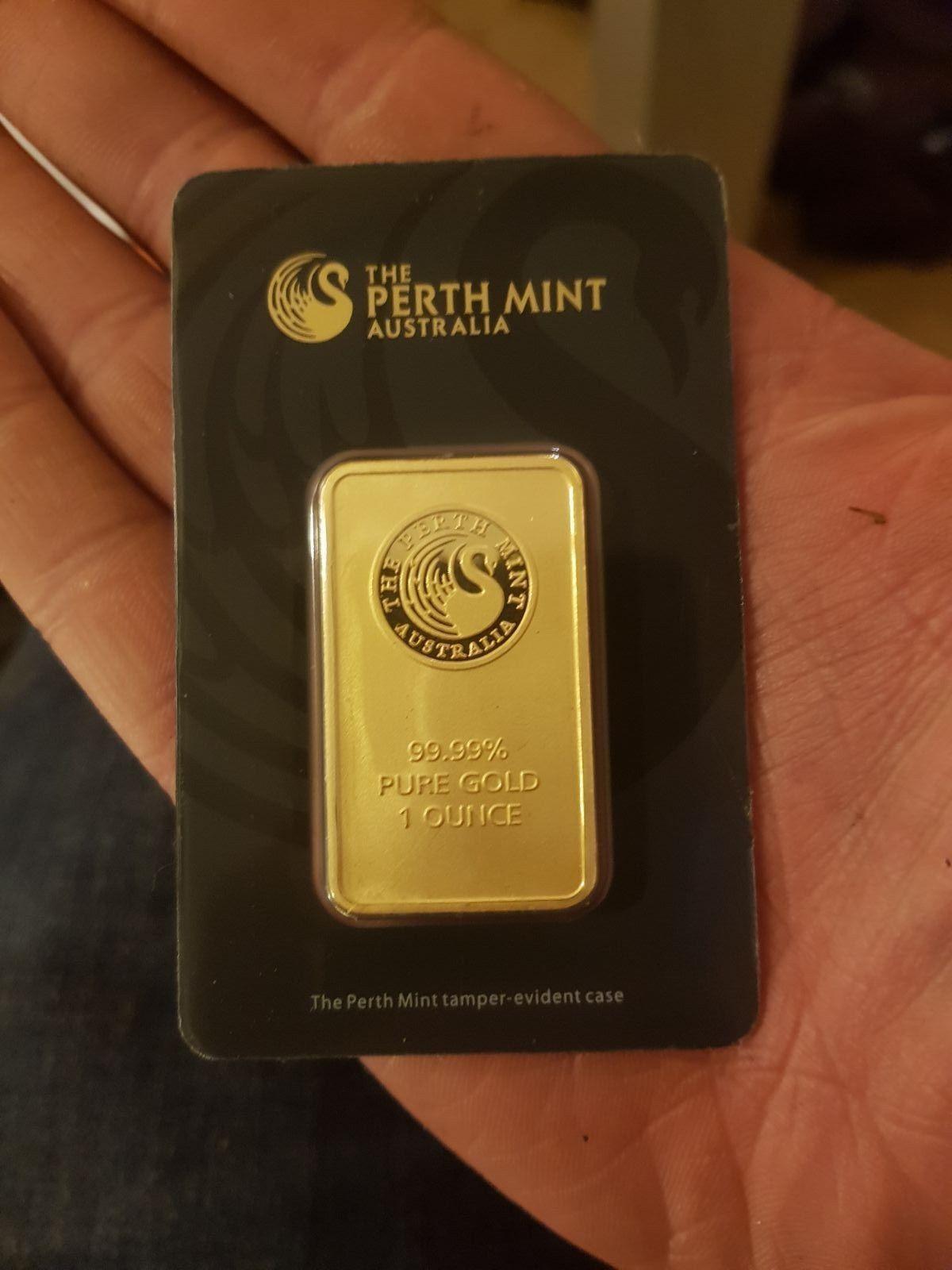 1oz Perth Mint Gold Bullion Bar 1 Ounce In Assay Sealed Jeweler Verified 14kgoldjewelry Gold Bullion Bars Gold Bullion Gold Money