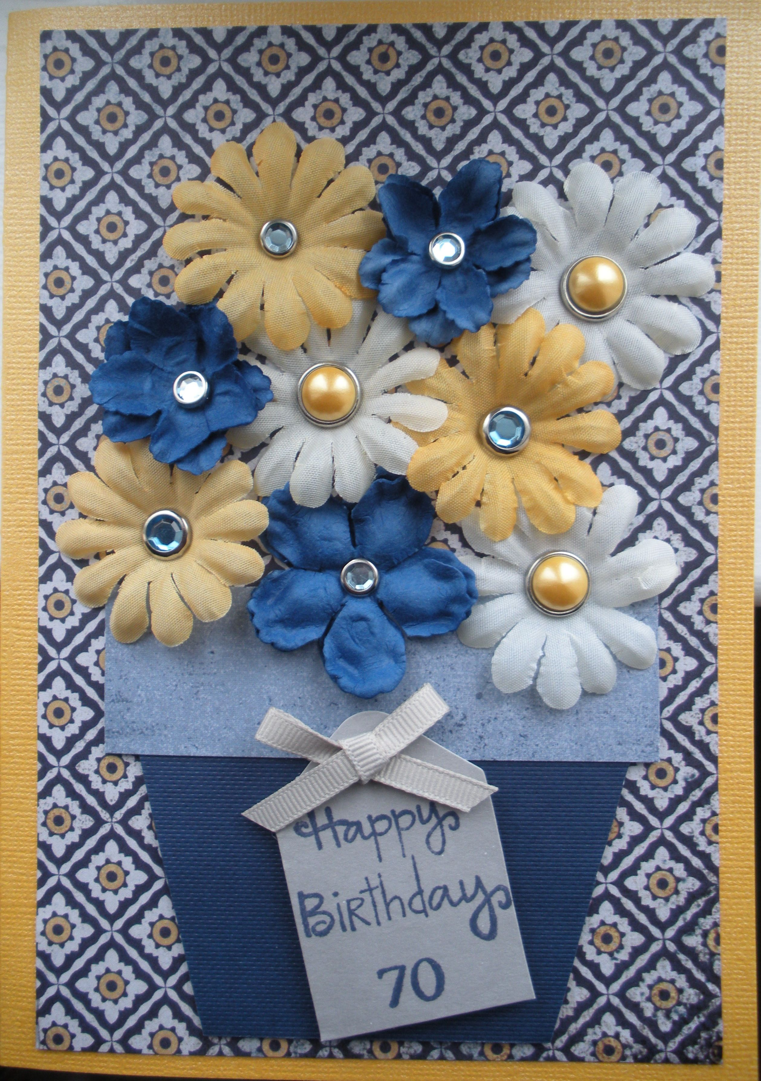 Flower pot card handmade cards stampin
