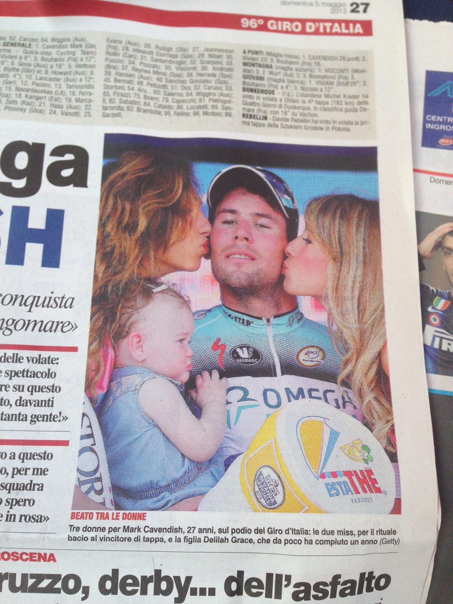Corriere dello sport Mark cavendish, Girandole, Giro d
